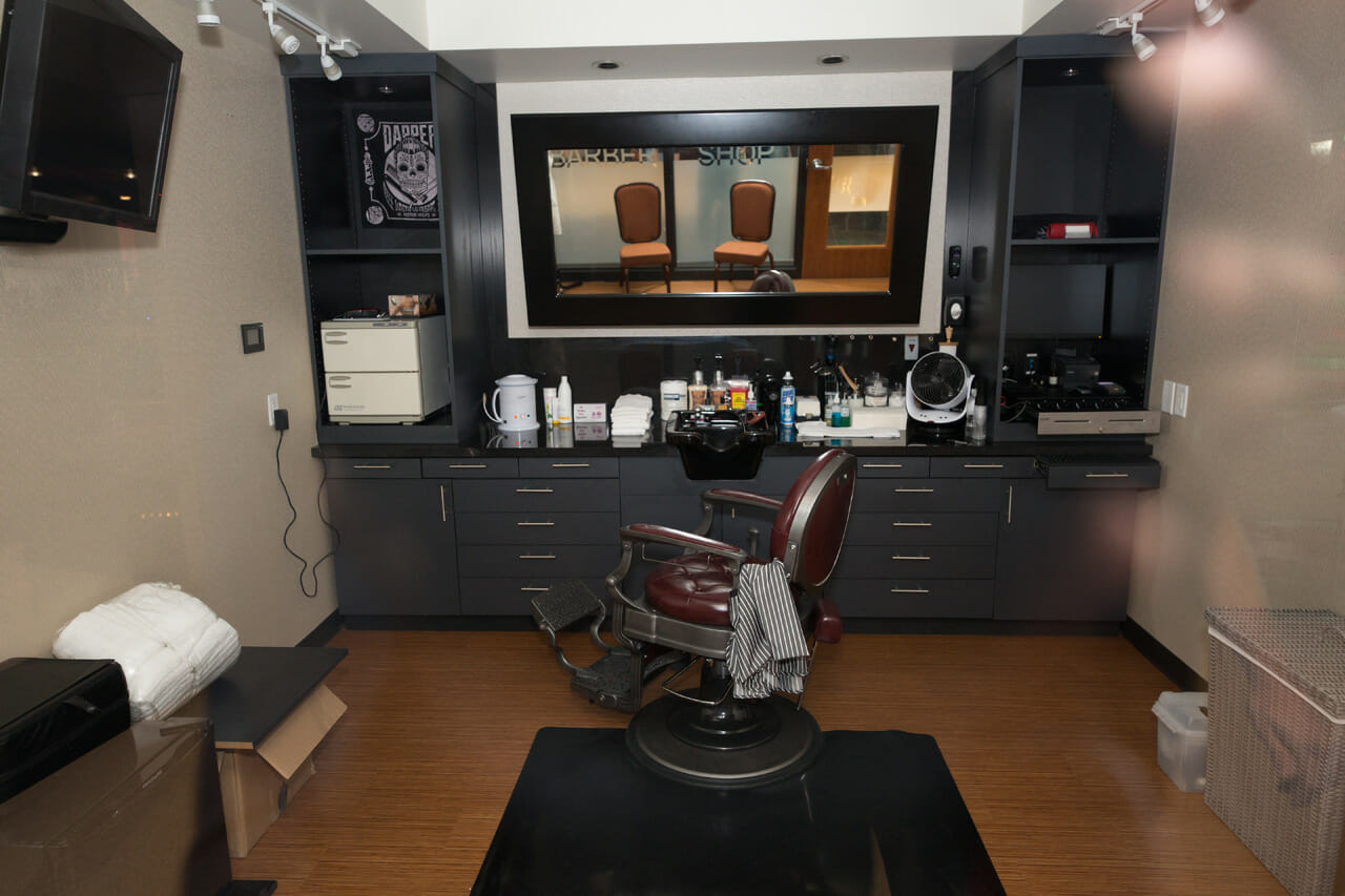 custom barbershop at talking stick resort