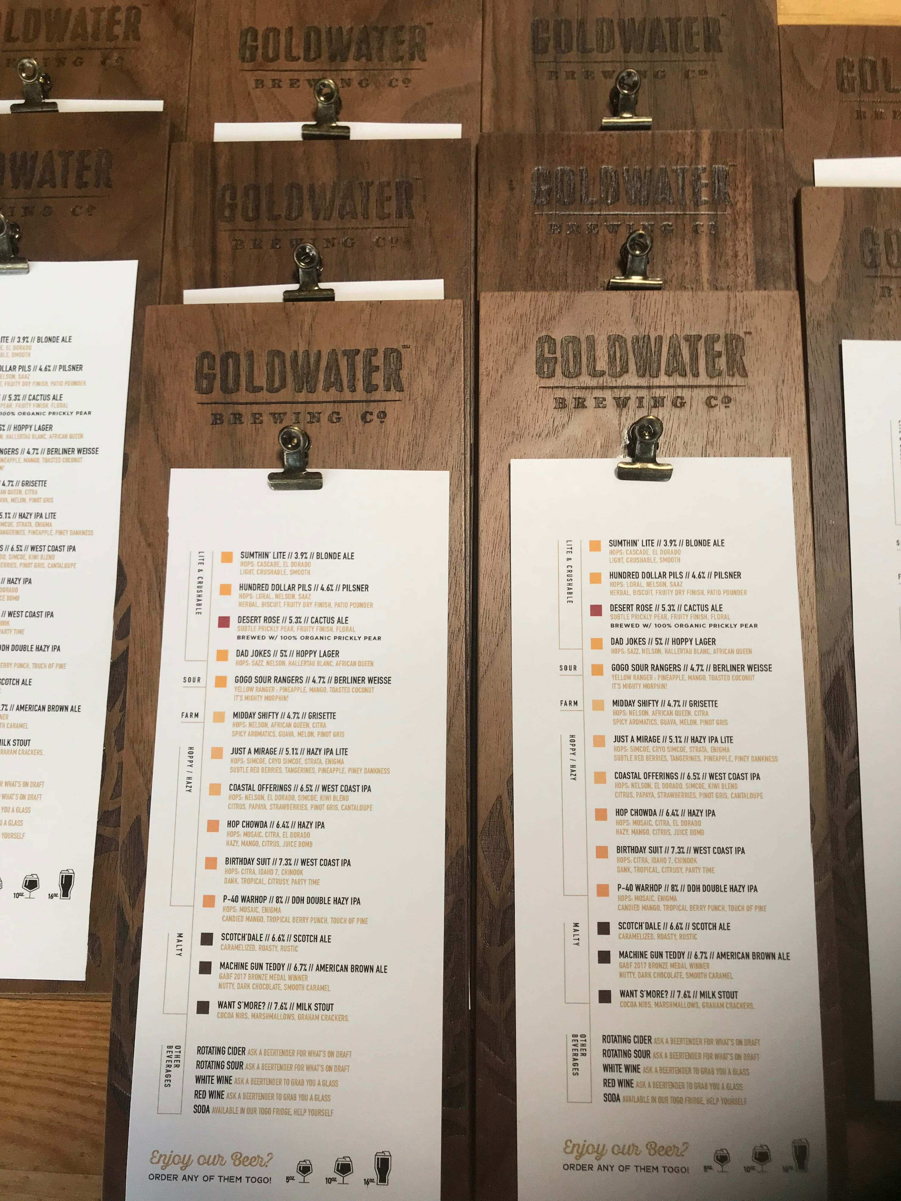 goldwater brewery menu boards (3)